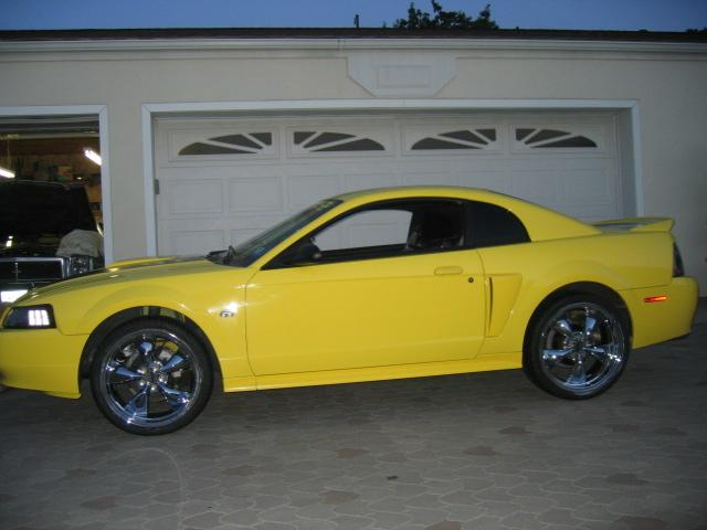 Yellow Mustang GT