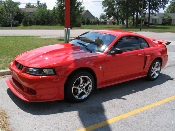 '01 Performance Red 3.8L w/ Chrome Cobra R Rims