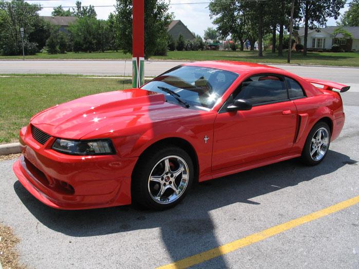 '01 Performance Red 3.8L w/ Chrome Cobra R Rims