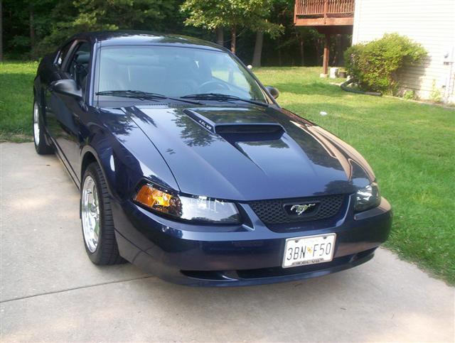 2001 Blue Bullitt Mustang