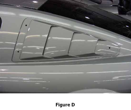 Roush quarter window louvers 2005 2009 mustang installation instructions americanmuscle