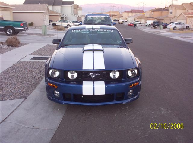 2006 Blue Roush Mustang