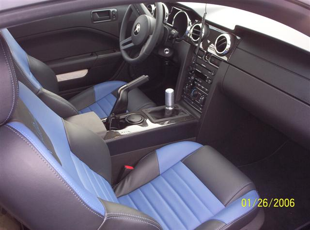 Interior of Roush Stage 2 Mustang