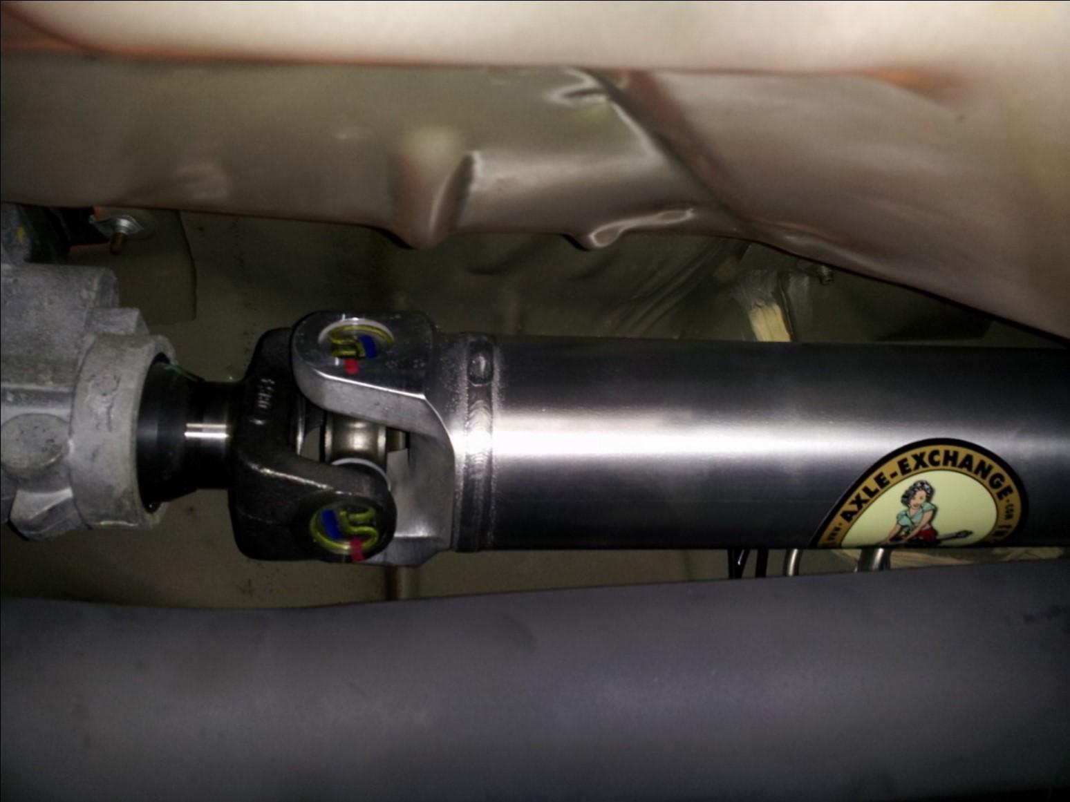 Aluminum One Piece Driveshaft - 31 Spline (96-04 GT, Mach 1; 96-98 Cobra) Install 7