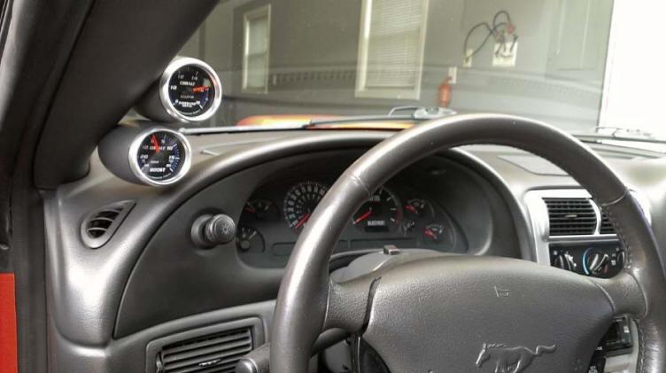 Auto Meter Cobalt Wideband Air/Fuel Gauge Install 26
