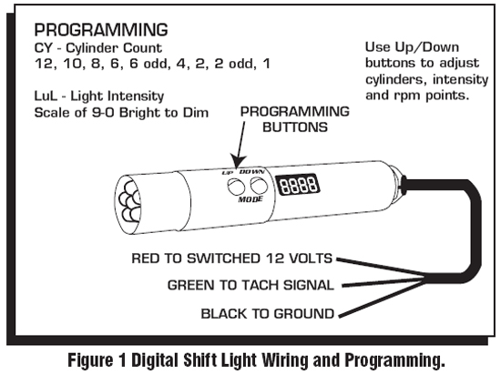 msd programmable digital shift light installation instructions installation 1 the shift light
