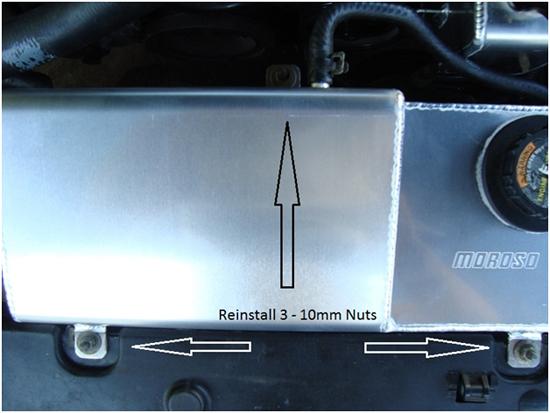 Moroso Mustang Aluminum Coolant Expansion Tank 96-04 7