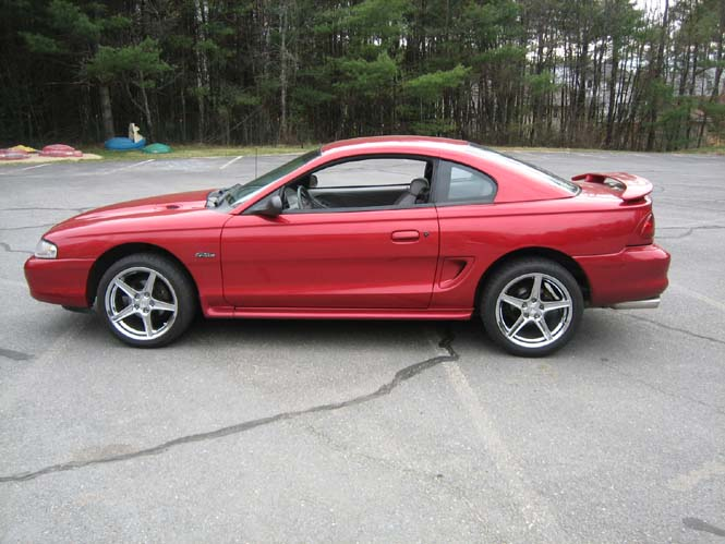 18 Inch Chrome S-Style Wheels on a 1998 GT