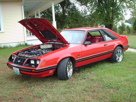 1983 Red Mustang GT 1