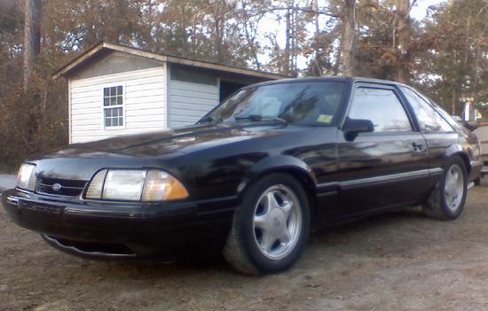 1990 Black Mustang GT 1
