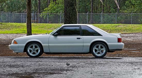 1993 Vibrant White Mustang LX 2
