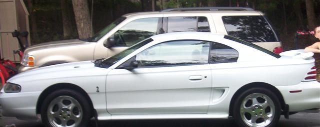 1994 White Mustang