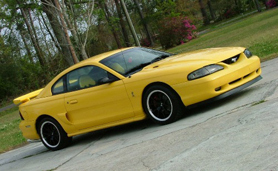 1995 Canary Yellow Mustang GT 1