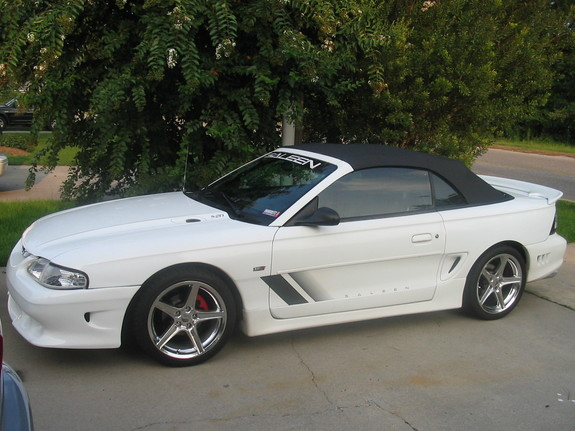 1997 White S-281 with Chrome Saleens