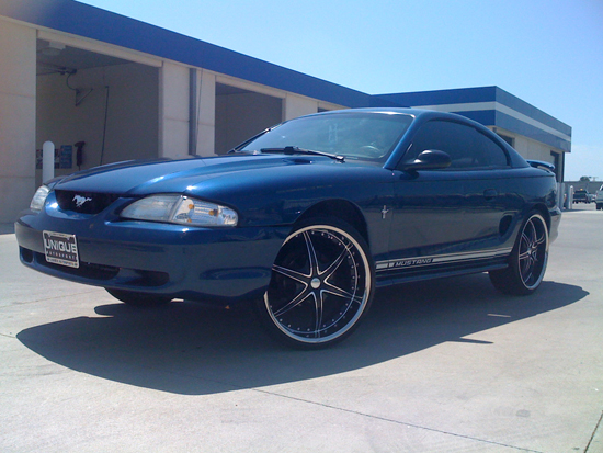 1998 Atlantic Blue Mustang V6 1