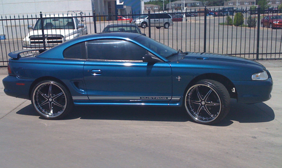 1998 Atlantic Blue Mustang V6 2