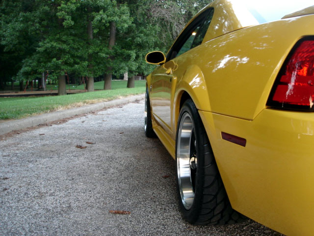 1999 Yellow Mustang GT