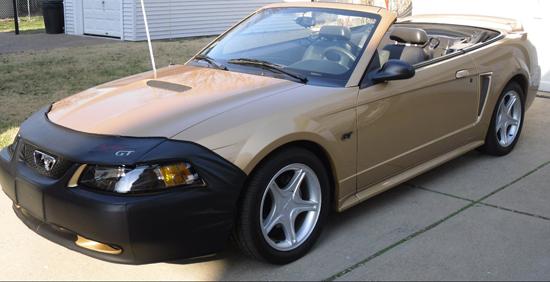2000 Sunburst Gold Mustang GT Convertible