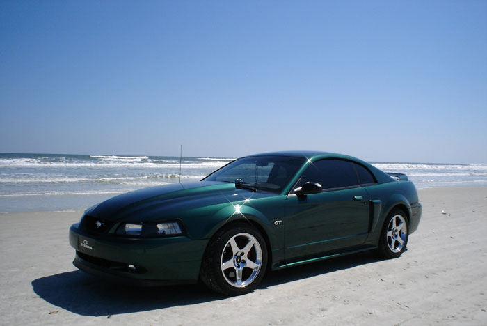 2000 Mustang GT with 2003 Chrome Cobra Wheels