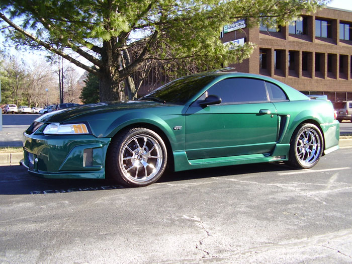 2000 Mustang GT with Chrome FR500 Wheels