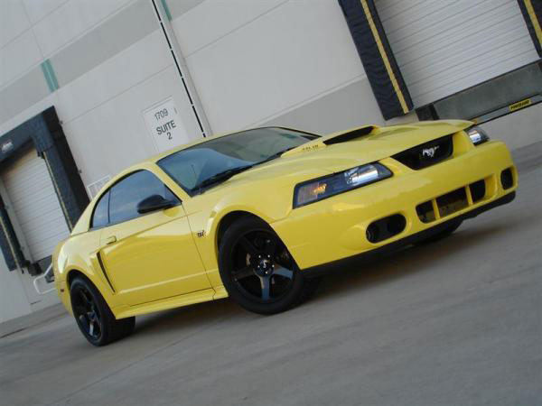 2001 Zinc Yellow GT with 2003 Black Cobra Wheels