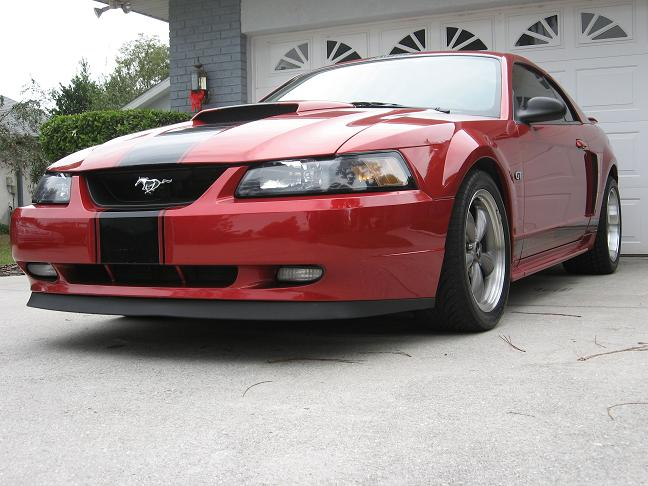 2002 Laser Red Mustang GT