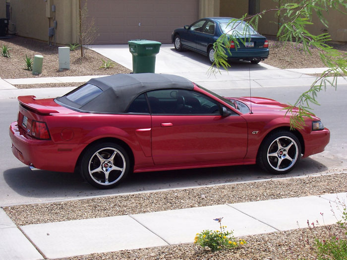 '02 Laser Red GT with 2000 Cobra R Rims