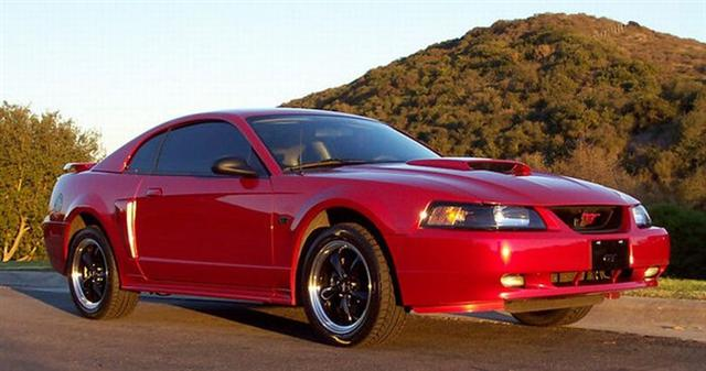 2002 Red Mustang 