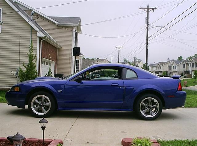 2002 Sonic Blue Mustang GT