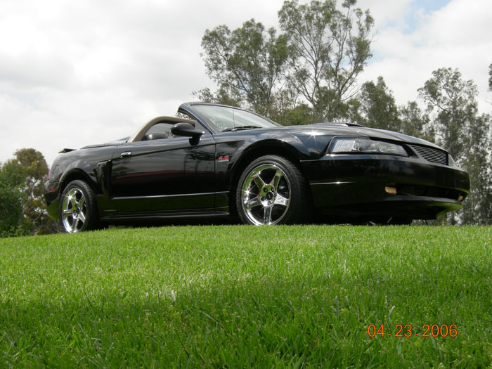Black 02 Mustang GT Convertable