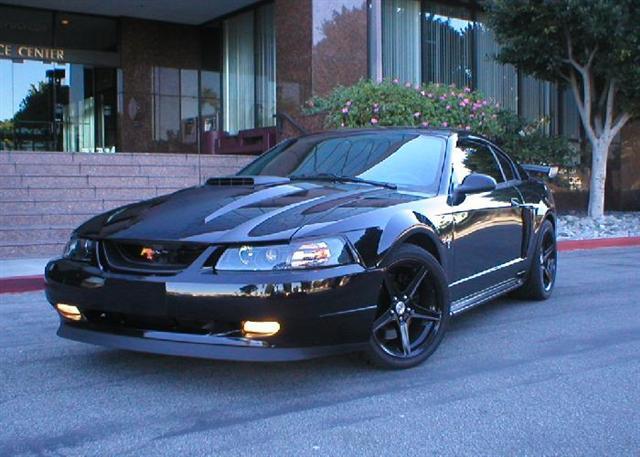 Black Mach 1 Mustang