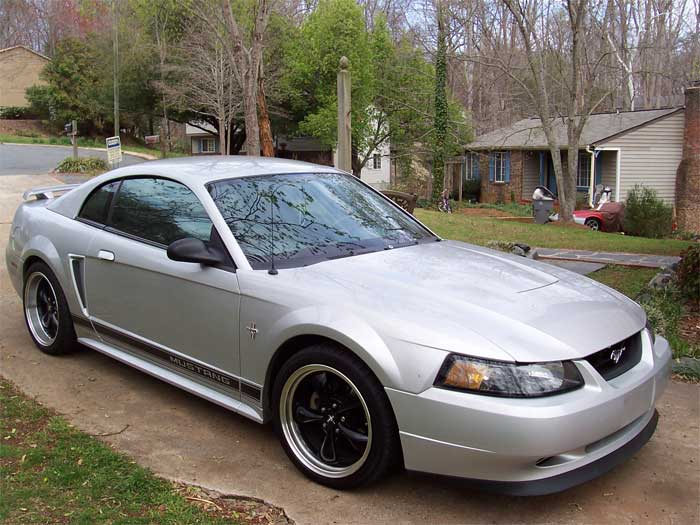 2003 Silver Mustang Bullitt Wheels