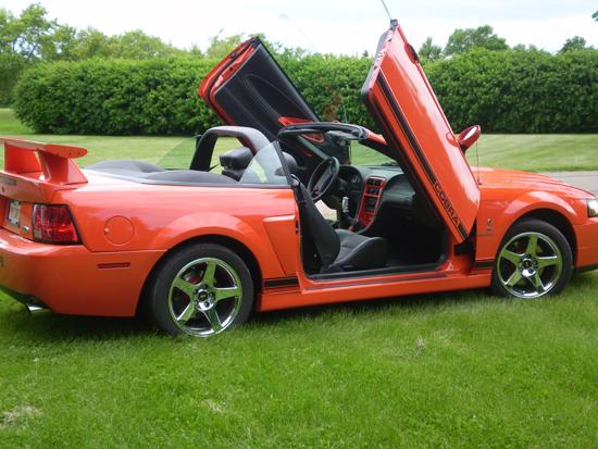 2004 Competition Orange Cobra Convertible 1