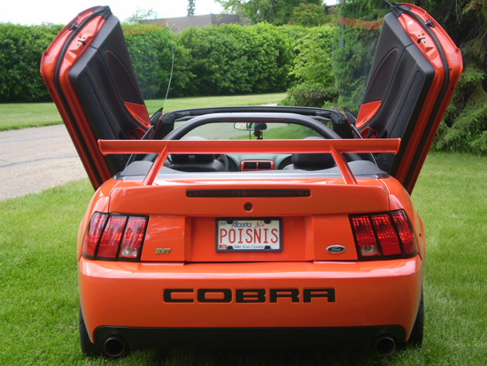 2004 Competition Orange Cobra Convertible 2