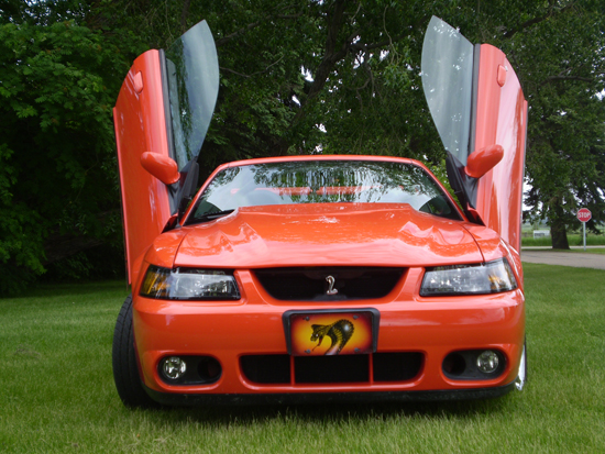 2004 Competition Orange Cobra Convertible 3