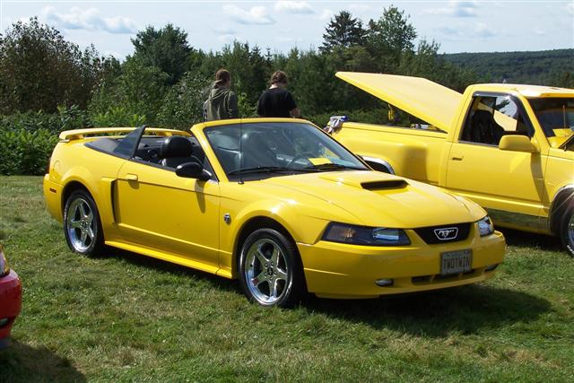 2004 screaming yellow mustang gt
