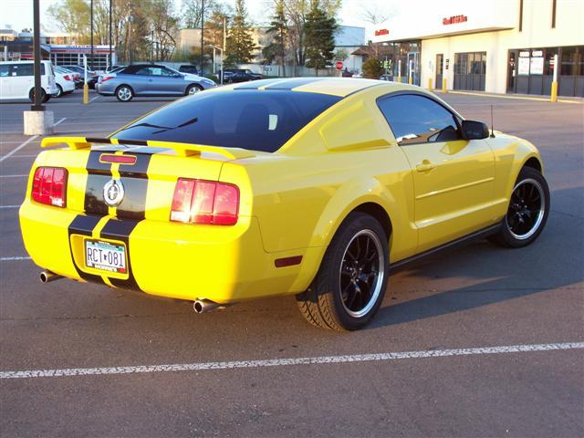 2005 Yellow Mustang