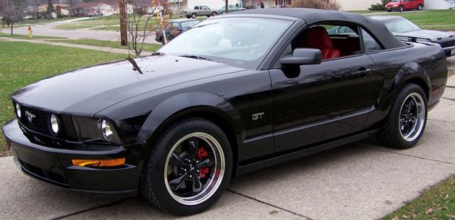 05 Black Mustang GT Convertable