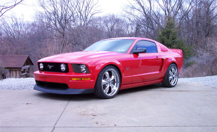 "2005 GT with 20"" Chrome Bullitt Rims"