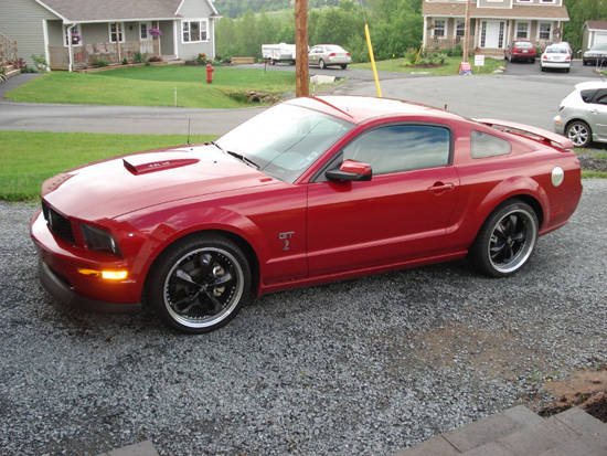 2008 Dark Candy Apple Red Mustang GT 1