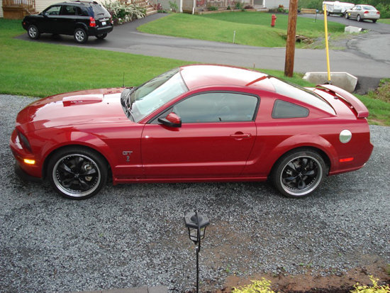 2008 Dark Candy Apple Red Mustang GT 2