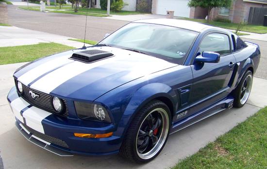 2008 Vista Blue Mustang GT 4