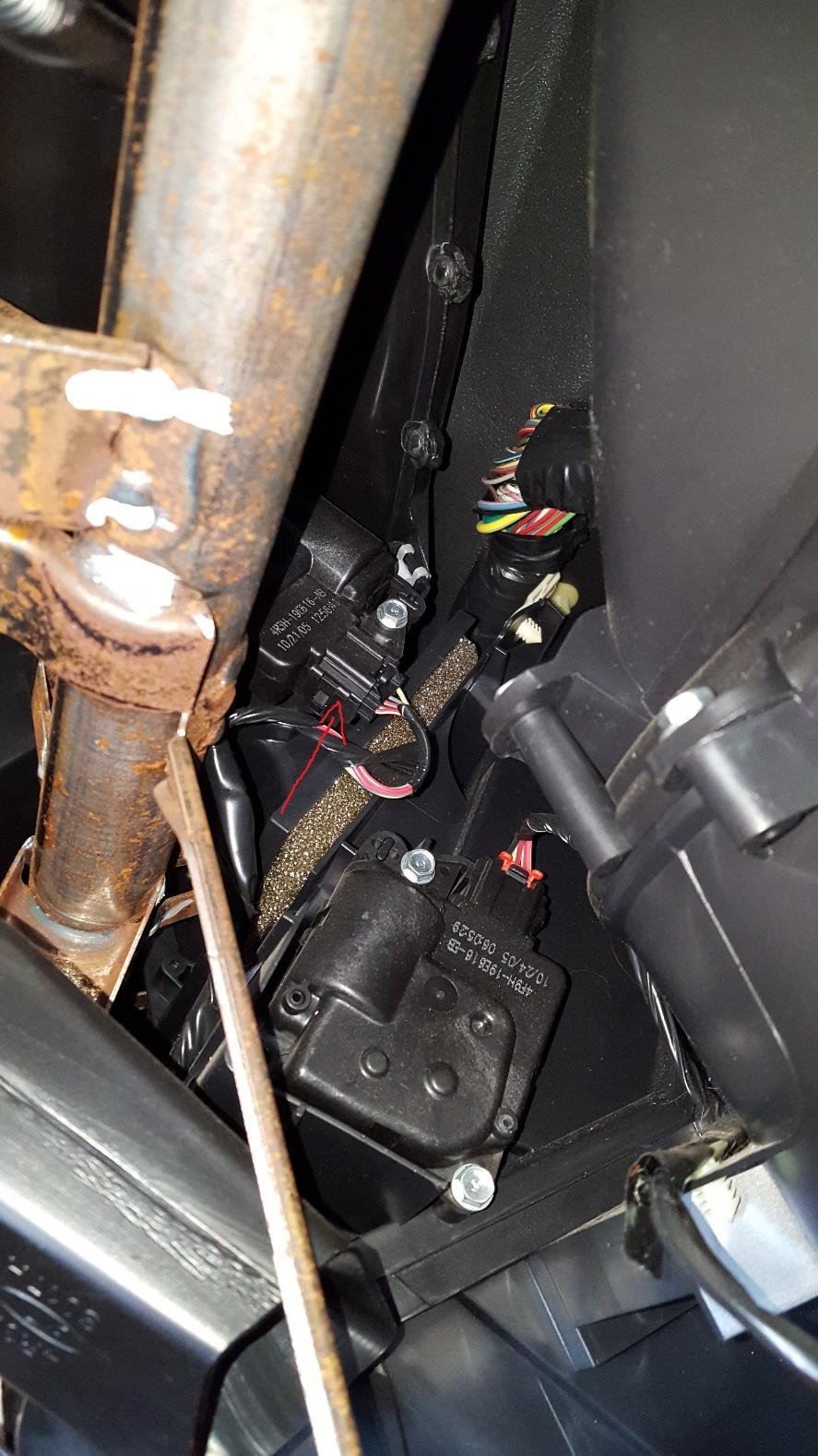 how to install an hvac blend door actuator - defrost