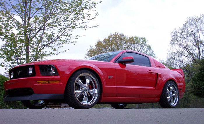 "2005 Mustang GT with 20"" Chrome Bullitts"