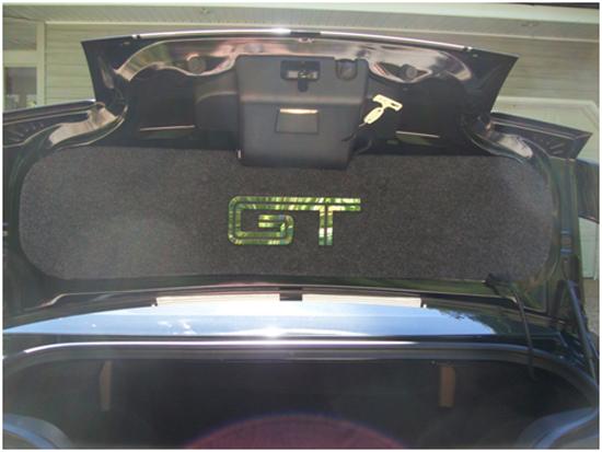 Mustang Mirror GT Trunk Lid Mat 05-09 GT 12