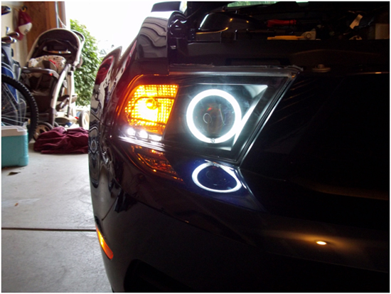 Raxiom Mustang Halo Projector Headlights 2010+ 10
