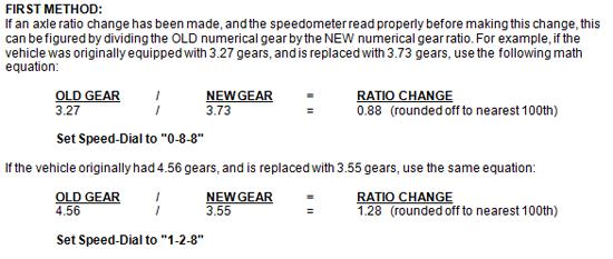 Mustang Speedometer Recalibration Tool 6