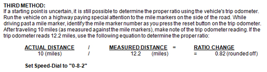 Mustang Speedometer Recalibration Tool 7