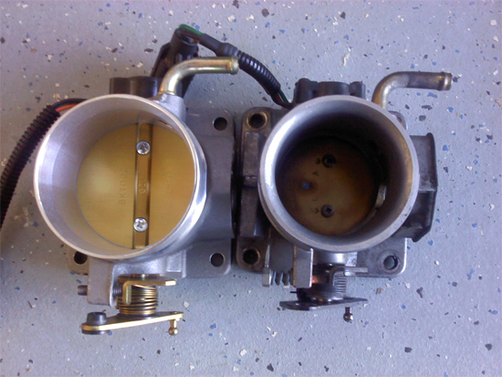 BBK 75mm Throttle Body w/ EGR Spacer 86-93 5.0L 8