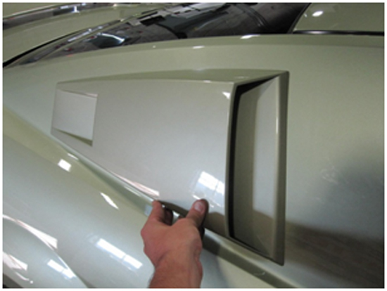 Mustang Eleanor Style Louvers - Pre-painted 05-10 6